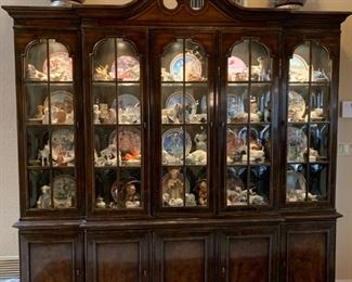 Drexel  Chinoiserie  China cabinet with lights
