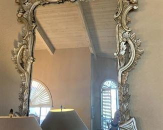 GREAT PAIR OF FRENCH SILVER GILT MIRRORS SOLD SEPARATELY
