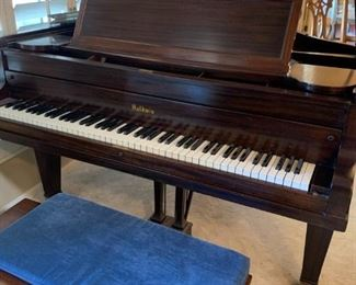 1940-1950'S BALDWIN PIANO, BABY GRAND WITH BENCH, WONDERFUL CONDITION