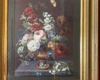 PAIR OF EXQUISITE EARLY FRAMED PRINTS,  FRAMES ARE OUTSTANDING, SOLD AS PAIR