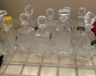 ASSORTED BAR DECANTERS