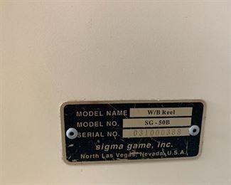 SLOT MACHINE BY SIGMA GAME, INC.