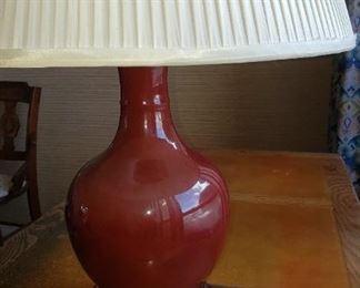 Vintage Blood red glass lamp
