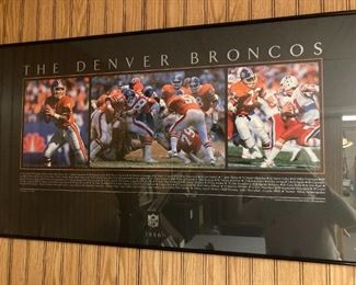 1986 Denver Broncos framed photos