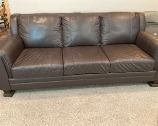 Leather sofa like new...only 3 yrs old