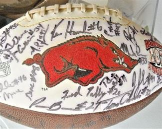 1980s Hogs team autographed football