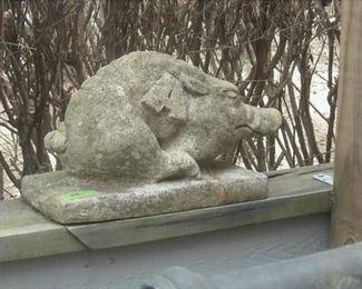Large concrete hog