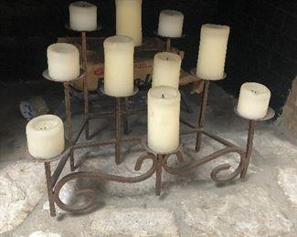iron candle decor