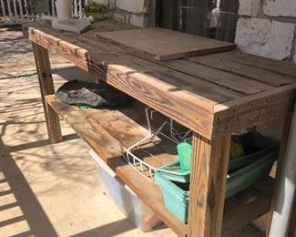 great work bench or garden station bench all wood