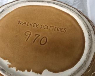 signed vintage pottery items- walker potteries-bowl
