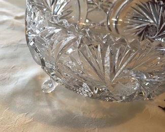 footed vintage bowl