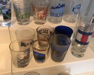 shot glass collection from all over