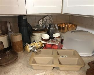retro and current  kit- tupperware and pampered chef -  thermos- aladdin - etc
