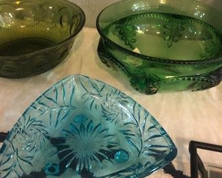 great colorful vintage glass items