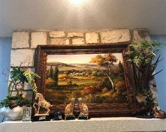 large artwork fills up mantle !!