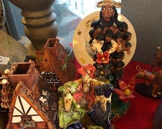 german made incense pottery houses-  and mexico crafts too