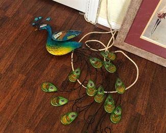 metal peacock decor