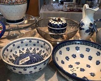 lovely polish pottery items-