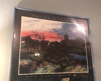 signed poster well known artist !!