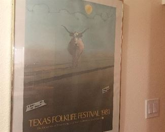rare find-  highly sought after texas folklife poster- iconic !!