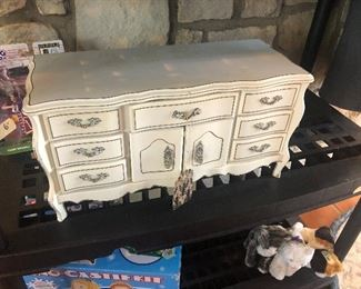 french provincial jewelry box- its a music box too