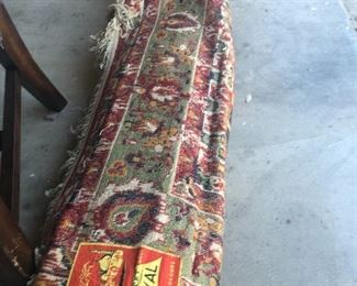 monster colorful turkish rug huge !! very nice condition- has musty smell from storage needs  to be cleaned or something but fabulous rug and the price will blow you away- lets just say having it cleaned is in  the budget for sure