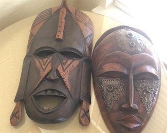 carved wood masks art from Ghana