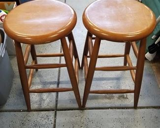 "Set of 2 bar stools 24"" tall"
