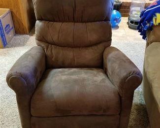 La-Z-Boy recliner, rocker, swivel (dark brown)