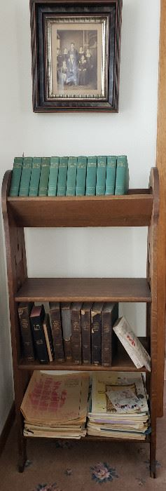 Bookcase & very old books