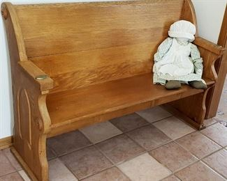 Great condition church pew