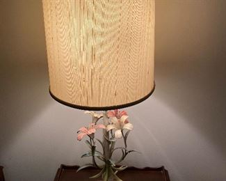 Vintage metal and marble Italian lamps