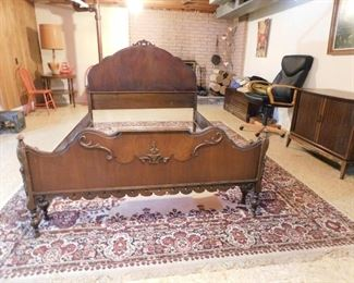 Vintage Bed, Table, Chair, Chest, Cabinet, Fireplace Tools