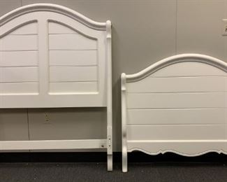 twin white headboard and footboard bed