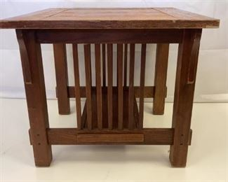 wood mission style end table