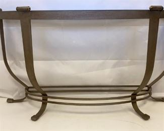 metal and glass foyer sofa table