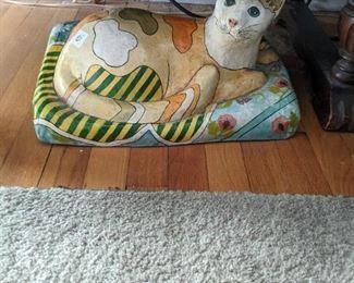Paper mache cat.