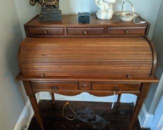 Wonderful old roll top desk