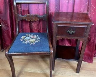 Antique Chair Side Table