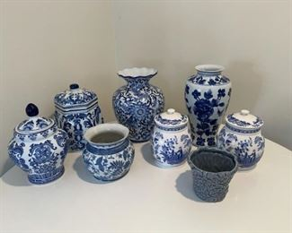 Asian Themed Vase and Jar Lot