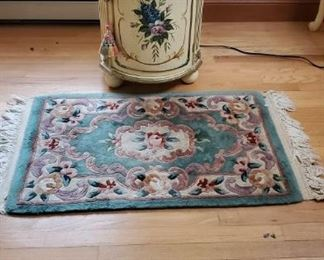 Cabinet and Rug