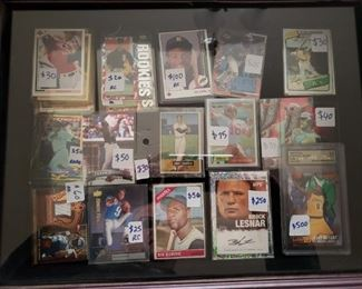 Lots of great sports cards.