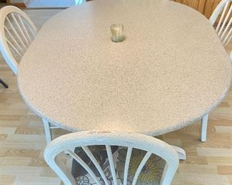 """Kitchen table (has one 12-15"""" leaf)- 53""""L x 42""""W x 30""""H"""