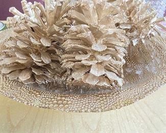 Decorative pine cone decor
