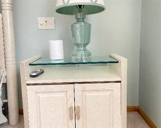 Nightstand with table lamp