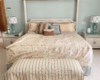 """King bed and headboard- 74""""W x 80""""L x 82"""" headboard height"""