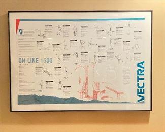 Vectra On-Line 1500 Diagram framed