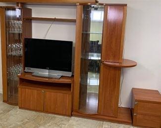 Oak wood wall unit
