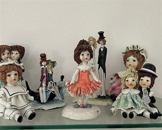 Collectible Italian pottery lim edition figurines signed by artist