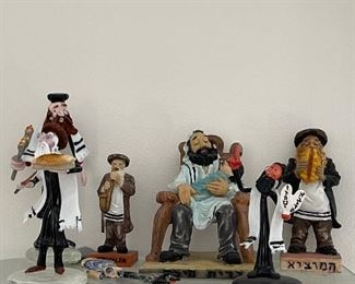 Judaic collectible ceramic figurines signed by artist
